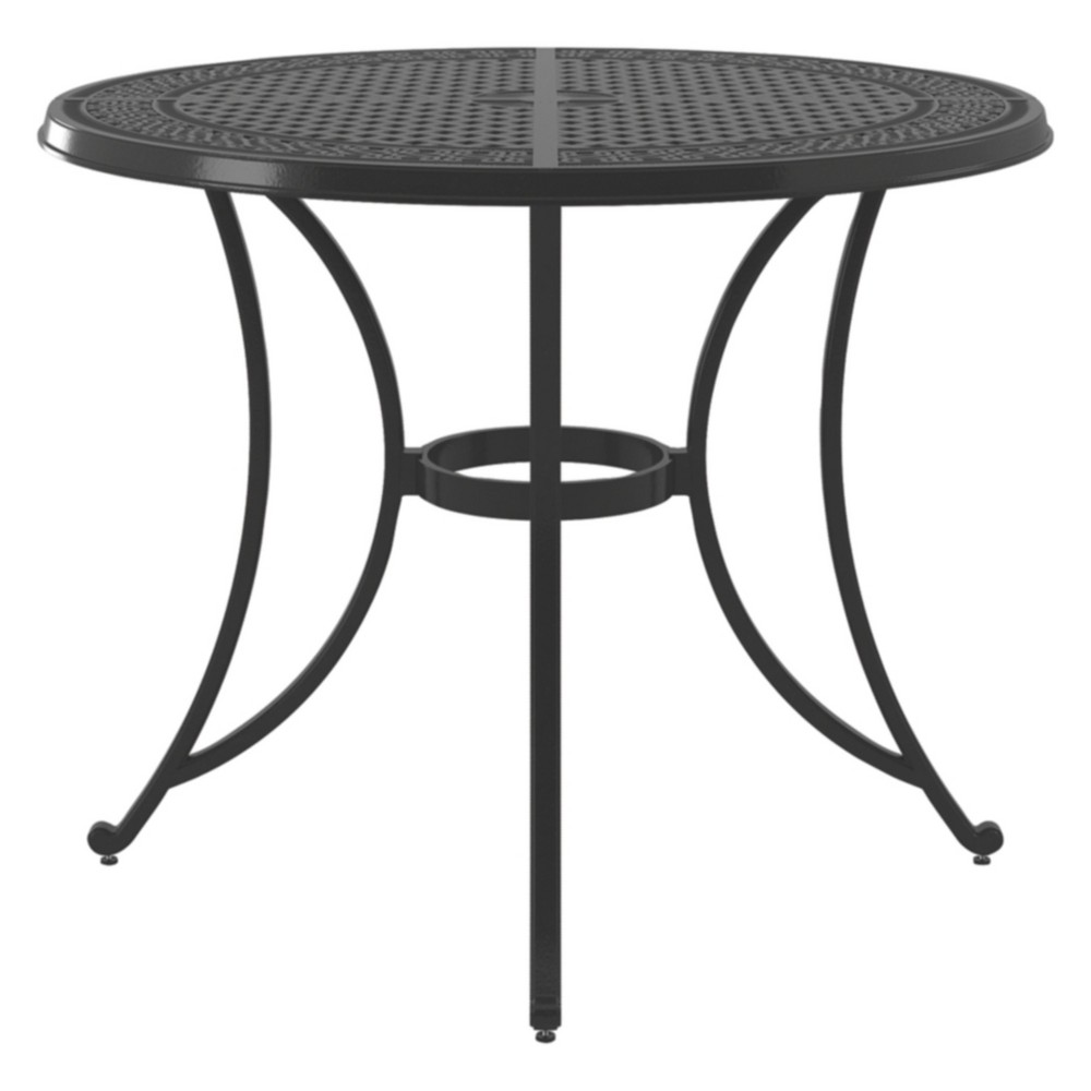 Burnella Round Bar Table - Brown - Outdoor by Ashley