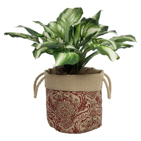 "10"" Aviana Fabric Floor Planter In Venice - Berry Red - Bombay® Outdoors - image 1 of 9"