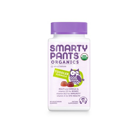 SmartyPants Organics Toddler Formula Multivitamin Gummies - 45ct - image 1 of 4