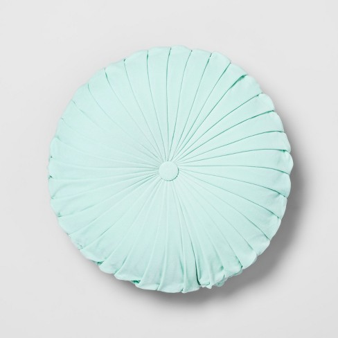 Pleated Velvet Round Throw Pillow Opalhouse Target