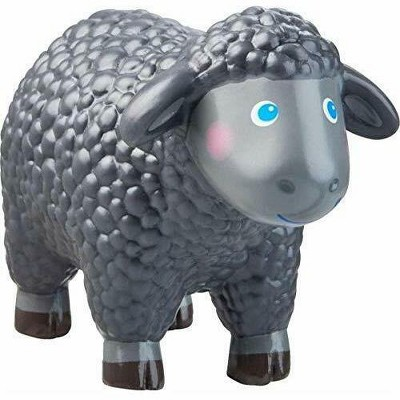 "HABA Little Friends Black Sheep - 2.75"" Chunky Plastic Toy Farm Animal Figure"