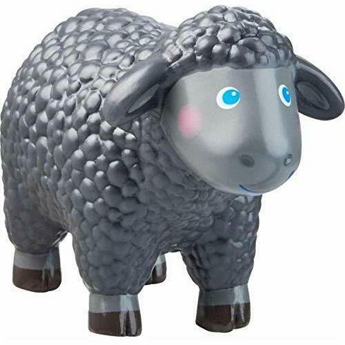 "HABA Little Friends Black Sheep - 2.75"" Chunky Plastic Toy Farm Animal Figure - image 1 of 3"