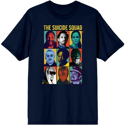 The Suicide Squad Movie Character Grid Navy Graphic Tee