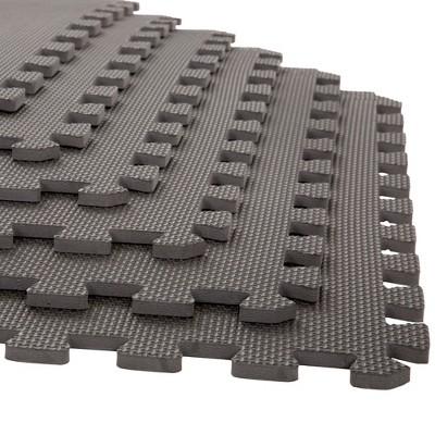 24 x24  6pk Interlocking EVA Foam Floor Mats Gray - Stalwart