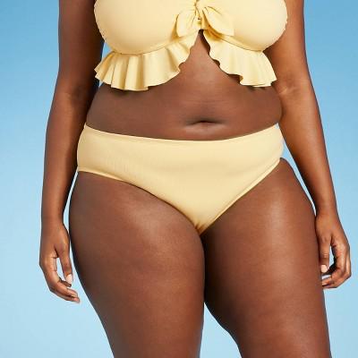 Juniors' Ribbed Cheeky Bikini Bottom - Xhilaration™ Yellow