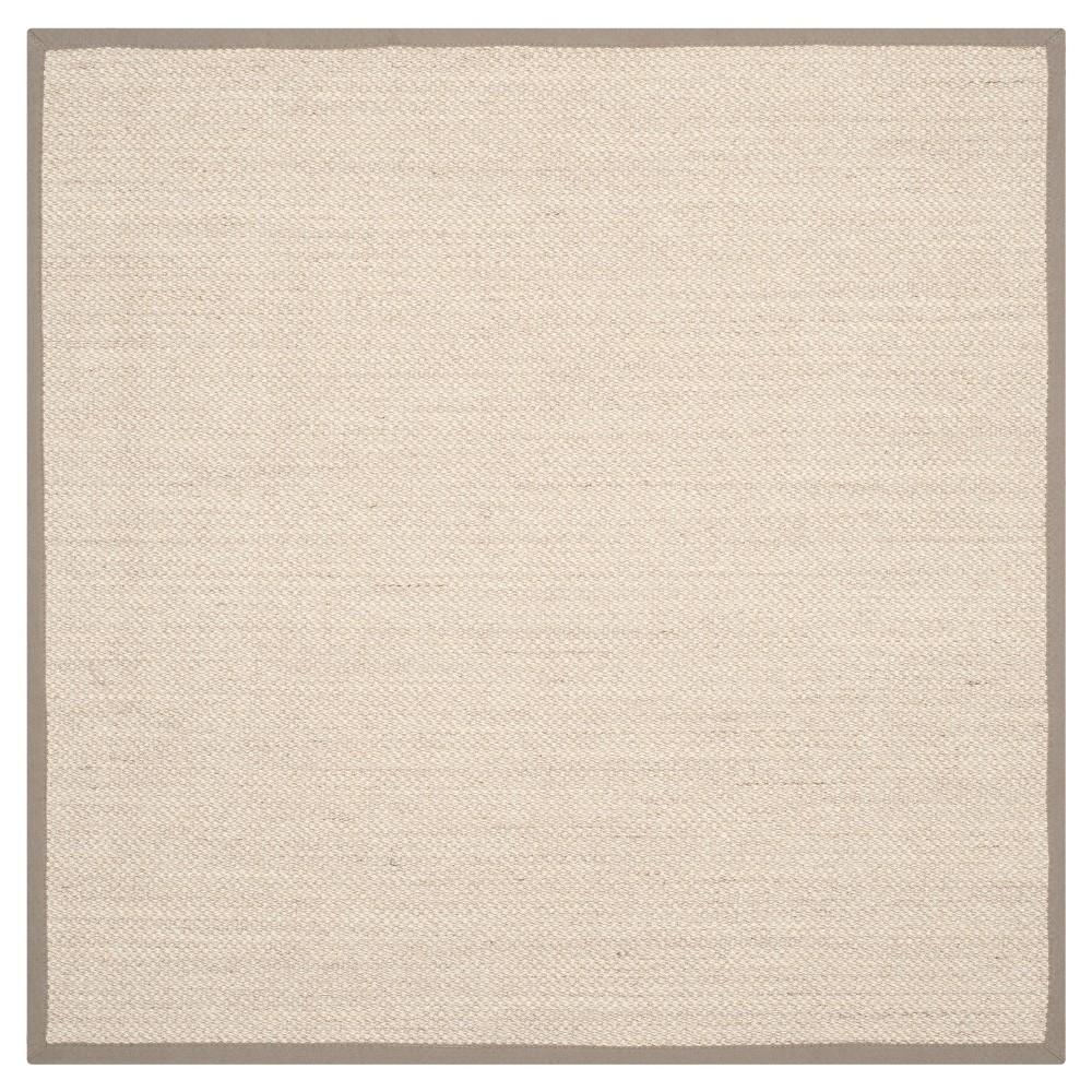 Natural Fiber Rug - Marble/Khaki (Marble/Green) - (8'x8' Square) - Safavieh