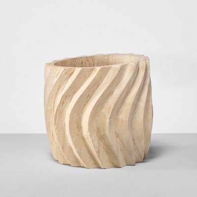 9  Medium Wood Textured Planter - Opalhouse™