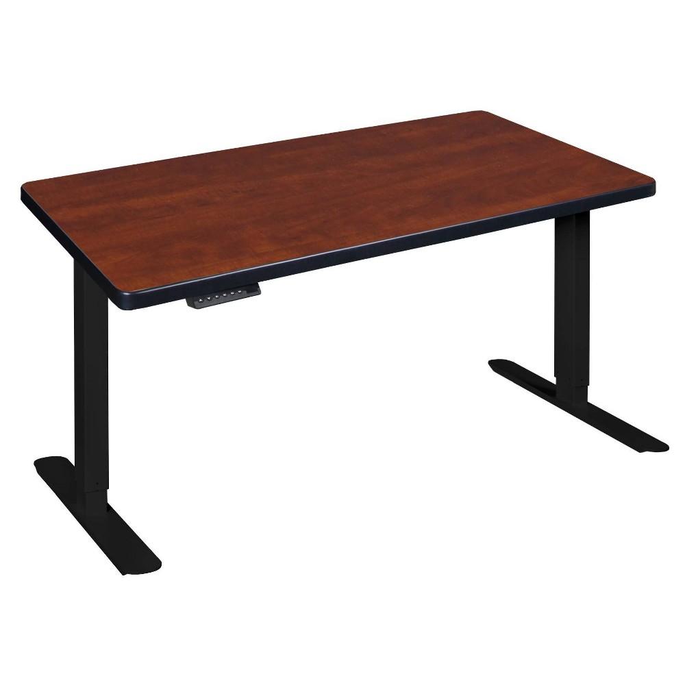 """Image of """"48"""""""" X 24"""""""" Esteem Height Adjustable Power Desk Red - Regency"""""""