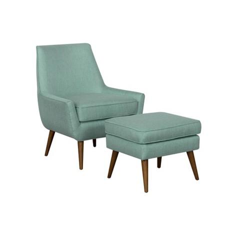 Groovy Dean Modern Accent Chair With Ottoman Homepop Short Links Chair Design For Home Short Linksinfo