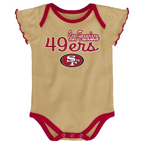 08dd55cc6 NFL San Francisco 49ers Girls  Newest Fan 3pk Bodysuit Set   Target