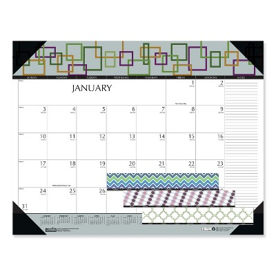 House of Doolittle 100% Recycled Geometric Desk Pad Calendar, 22 x 17, 2021 149