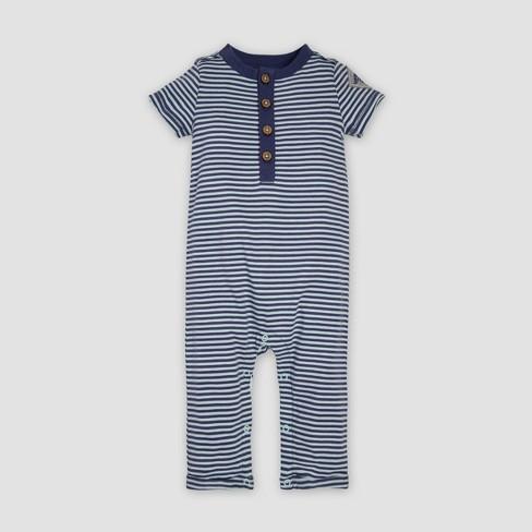 d5f04a1b6b9 Burt s Bees Baby® Baby Boys  Organic Cotton Classic Stripe Henley Coveralls  - Indigo