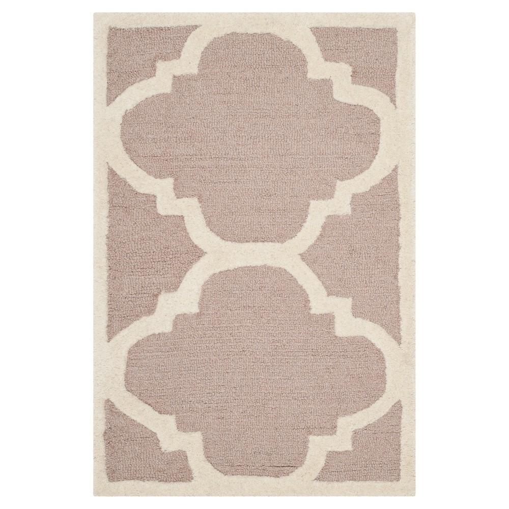 Landon Texture Wool Rug - Beige / Ivory (2' X 3') - Safavieh, Beige/Ivory