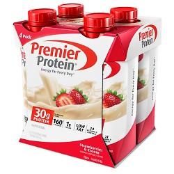 Premier Protein Strawberry Shake - 11 fl oz/4ct
