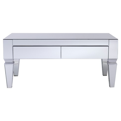 Darla Contemporary Mirrored Rectangular Cocktail Table - Mirrored - Aiden Lane - image 1 of 4