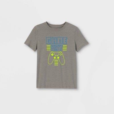 Boys' Short Sleeve Gaming Console Graphic T-Shirt - Cat & Jack™ Gray