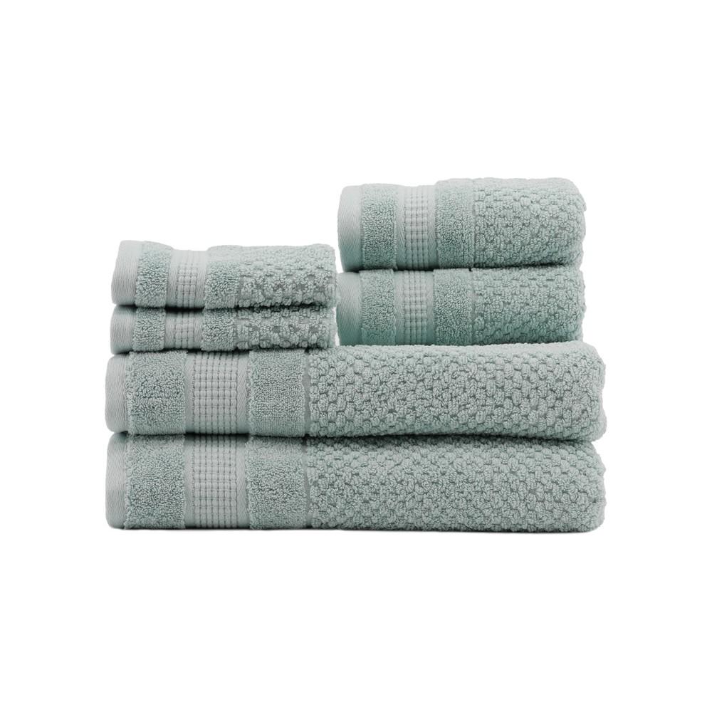6pc Pebble Eggshell Blue Bath Towels Sets - Caro Home