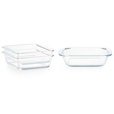 Pyrex Littles 3pc Glass Bakeware Value Pack