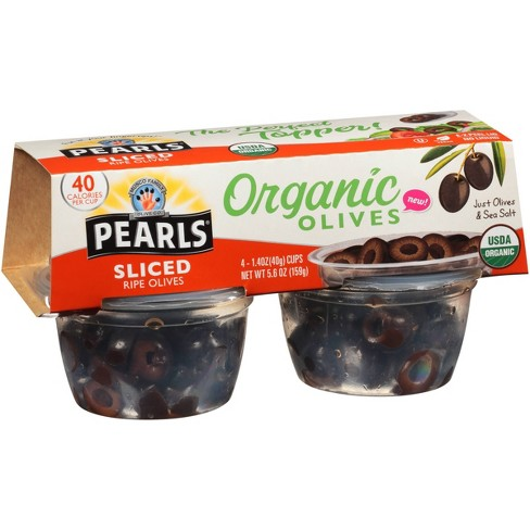 Pearls Sliced Organic Ripe Olives to Go 1.4oz - image 1 of 1