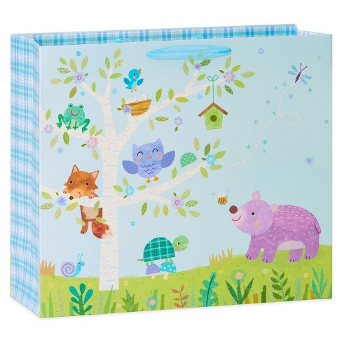 Papyrus Baby Boy Woodland Jumbo Gift Bag - image 1 of 2