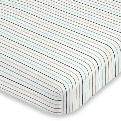 Carter's Heather Stripe Super Soft Fitted Crib Sheet