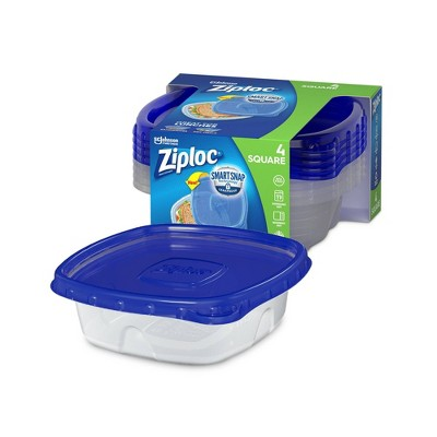 Ziploc Small Square Containers - 4ct