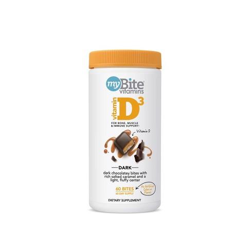 MyBite Vitamin D3 Supplement Chewables - Dark Chocolatey Caramel - 60ct - image 1 of 4