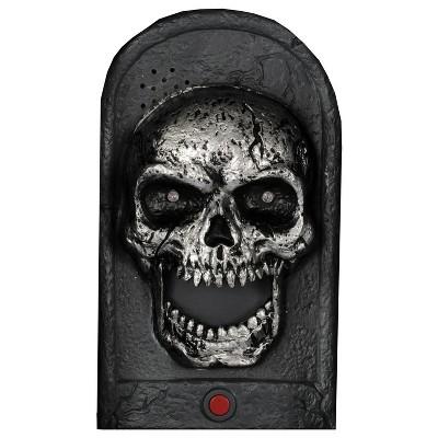 Halloween Door Bell Skull Light-Up