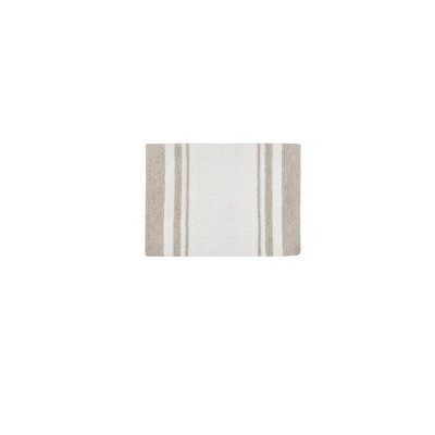 Spa Cotton Reversible Bath Rug Taupe Brown 20 x30