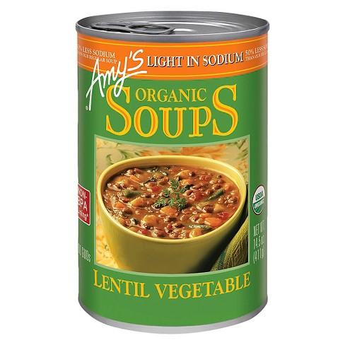 Amy's Organic Light in Sodium Lentil Vegetable Soup 14.5 oz - image 1 of 4