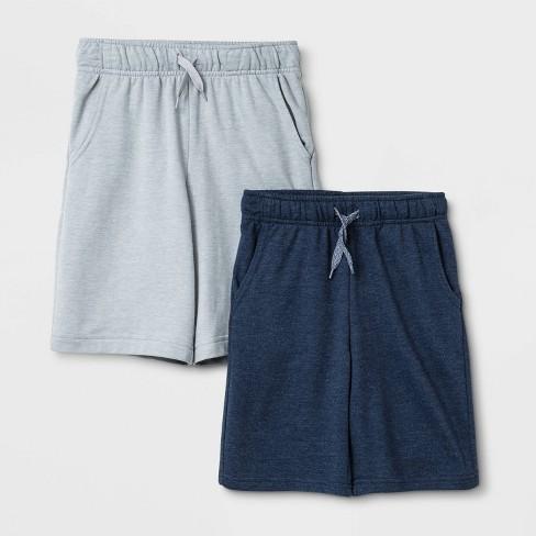 Boys' 2pk Pull-On Knit Shorts - Cat & Jack™ Navy/Gray - image 1 of 1