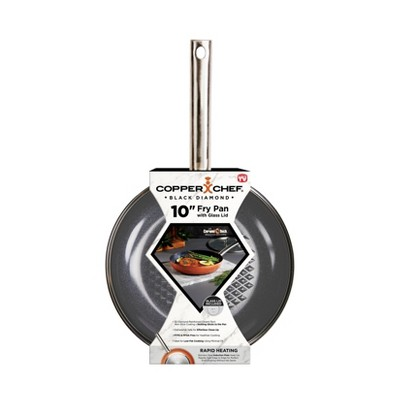 "As Seen on TV 10"" Copper Chef Black Diamond Round Pan with Lid"