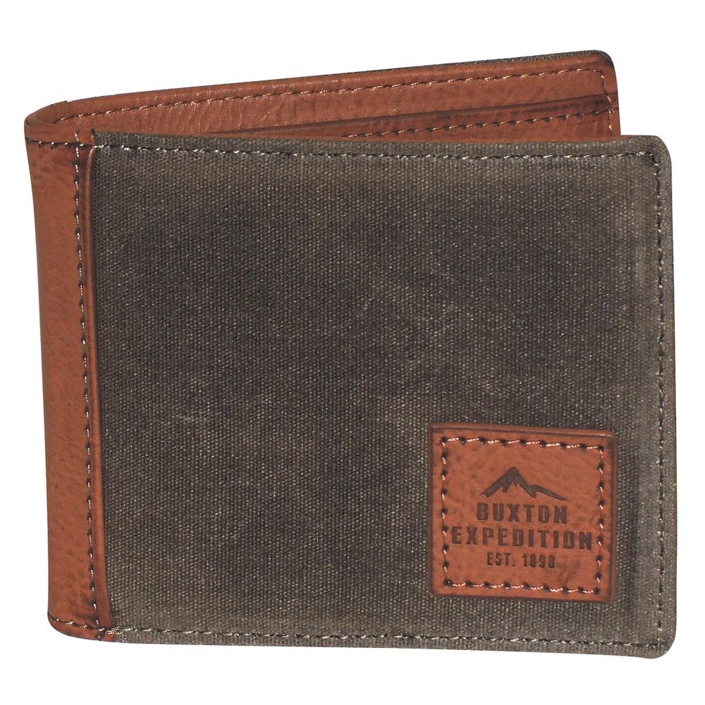 Buxton Men's Expedition II Huntington Rfid Slimfold Wallet - Olive, Light Olive