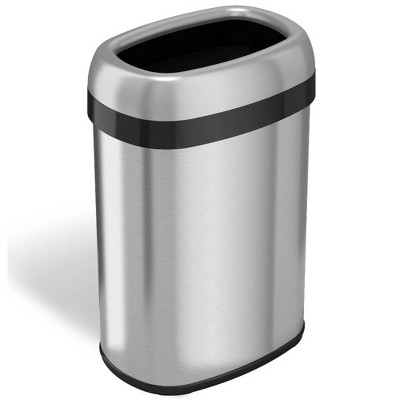 halo quality 13gal Oval Top Stainless Steel Trash Can and Recycle Bin with Dual Deodorizer