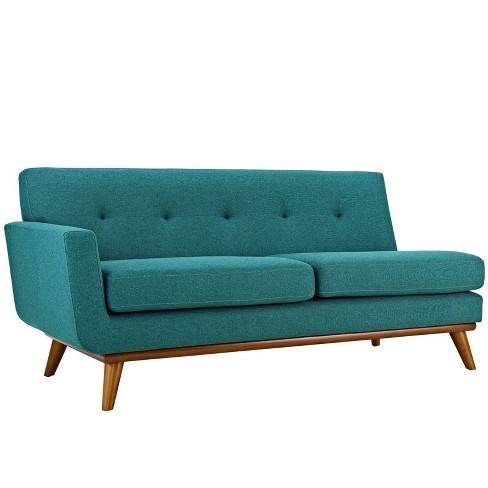 Engage RightArm Upholstered Loveseat Teal - Modway - image 1 of 4