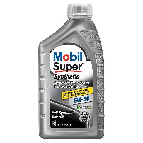 mobil super synthetic motor oil 5w 30 1 quart target. Black Bedroom Furniture Sets. Home Design Ideas