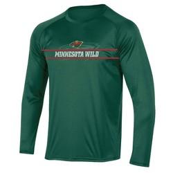 NHL Minnesota Wild Men's Icing Long Sleeve Performance T-Shirt