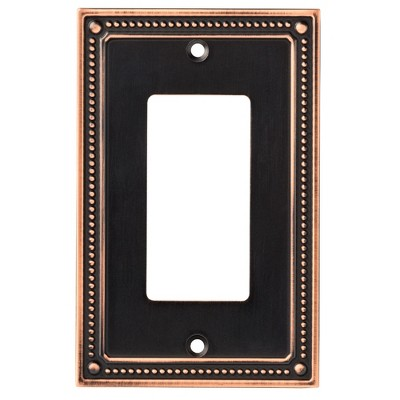 Franklin Brass Classic Beaded Single Decorator Wall Plate Bronze With Copper Highlights