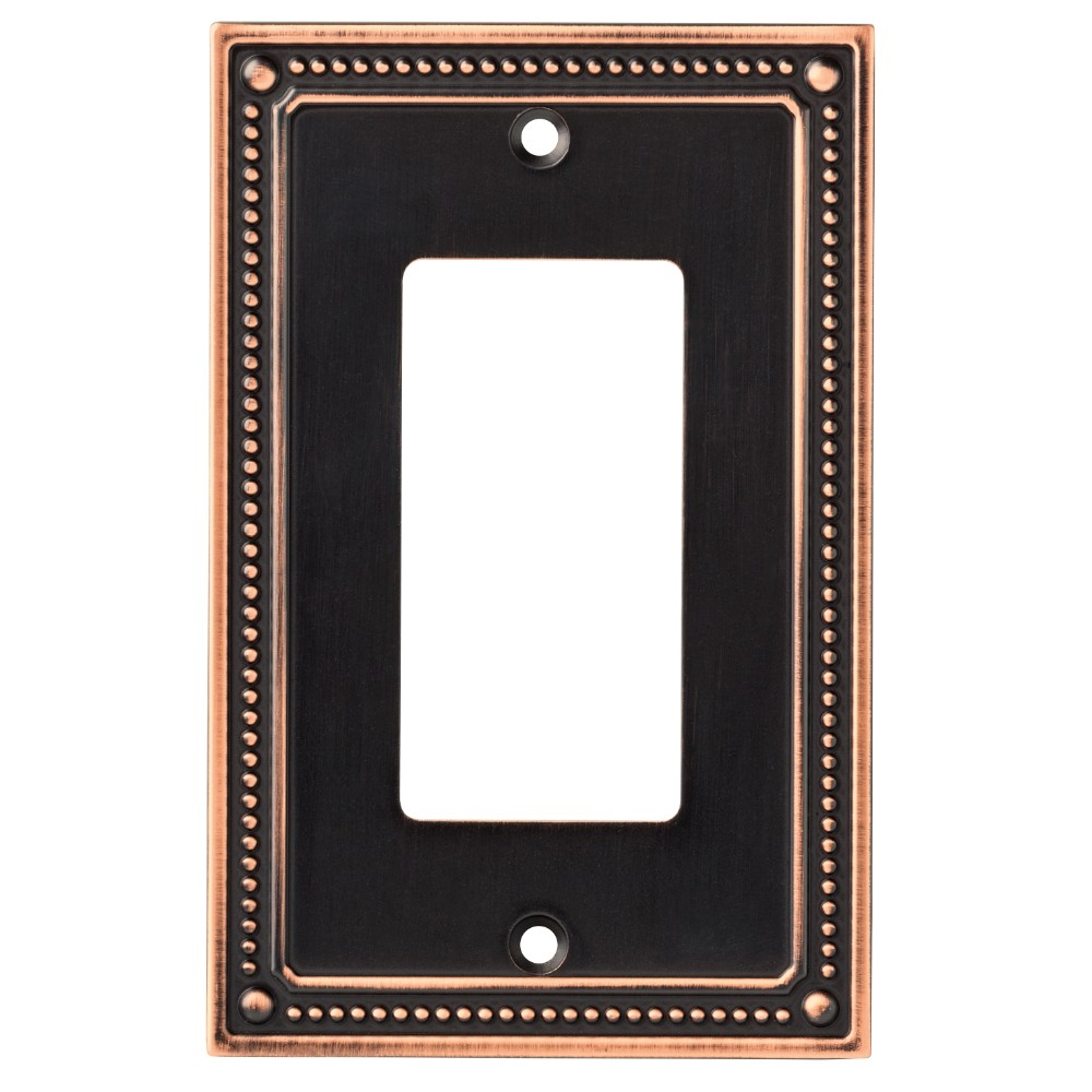 Classic Beaded Single Decorator Wall Plate Bronze With Copper Highlights - Franklin Brass