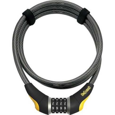 OnGuard Akita Resettable Combo Cable Lock 6' x 10mm Gray/Black/Yellow - image 1 of 1