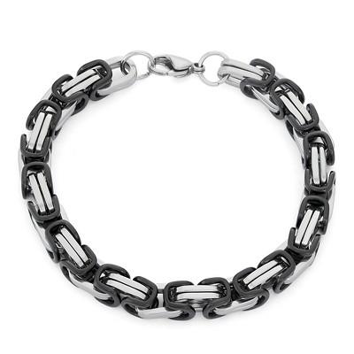 Men's Byzantine Link Bracelet In Stainless Steel