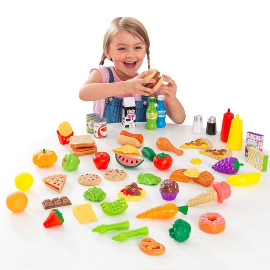 KidKraft 65pc Food Set, play food and toy kitchens image number null