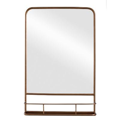 "20"" x 30"" Pharmacy Mirror with Metal Shelf (Powder Coated)Mirror Brass - Threshold™"