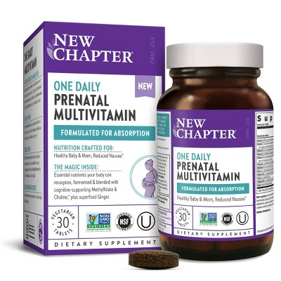 New Chapter Prenatal One Daily Multivitamin + Choline Tablets - 30ct
