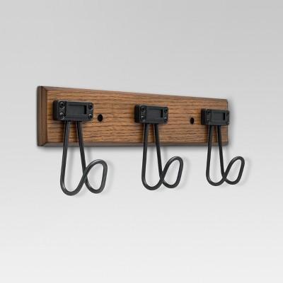 Label Hook Rack - Walnut & Soft iron - Threshold™