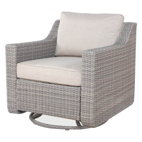Patio Wicker Motion Chair with Cushion - Threshold™ - image 1 of 1