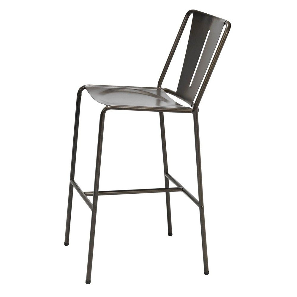 Image of Inicio Barstool Natural Steel - KFI Seating