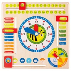 Small Foot Wooden Toys Educational Calendar Board