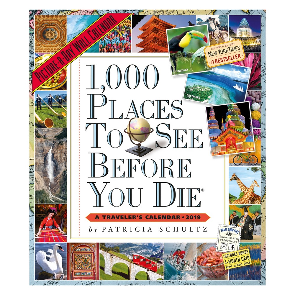 2019 1000 Places to See Before You Die Wall Calendar, Multi-Colored