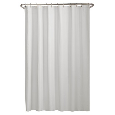 Water Repellant Microfiber Shower Liner White - Zenna Home
